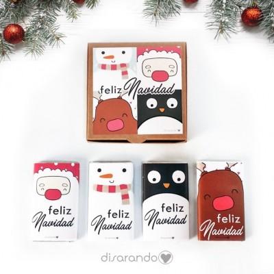 """Caja Chocolatinas """"Feliz Navidad"""""""