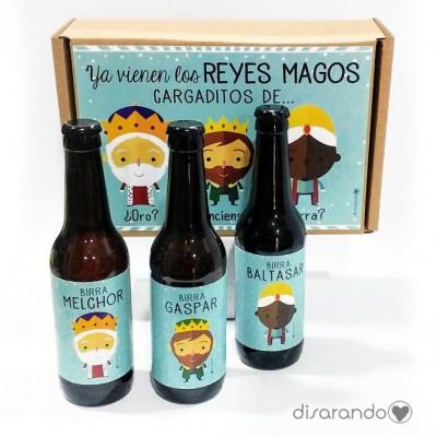 """Kit Cerveza """"Ya Vienen los Reyes Magos Cargaditos de... ¿Oro? ¿Incienso? ¿Birra?"""""""