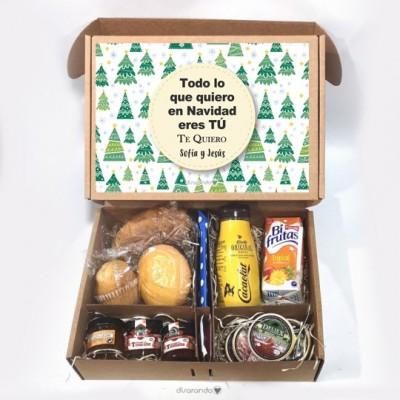 Kit desayuno Navidad personalizado (Varios diseños de caja)