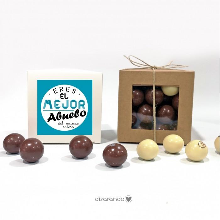 """Caja Bombones Chocolate """"Abuelo"""""""