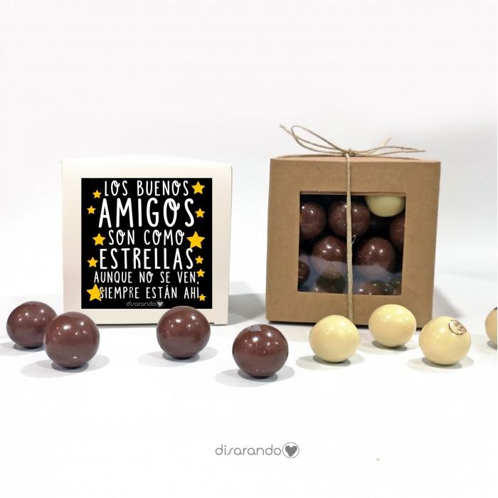 """Caja Bombones Chocolate """"Amigos"""""""