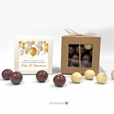 "Caja Bombones Chocolate ""Bodas Oro"""