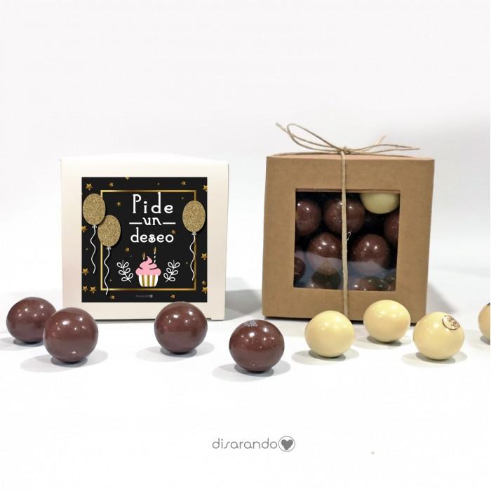 "Caja Bombones Chocolate ""Pide un deseo"""