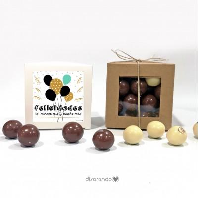 "Caja Bombones Chocolate ""Felicidades"""