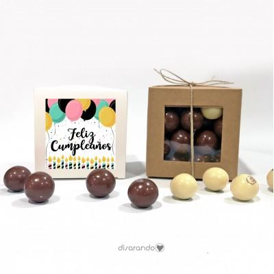 "Caja Bombones Chocolate ""Cumpleaños"""