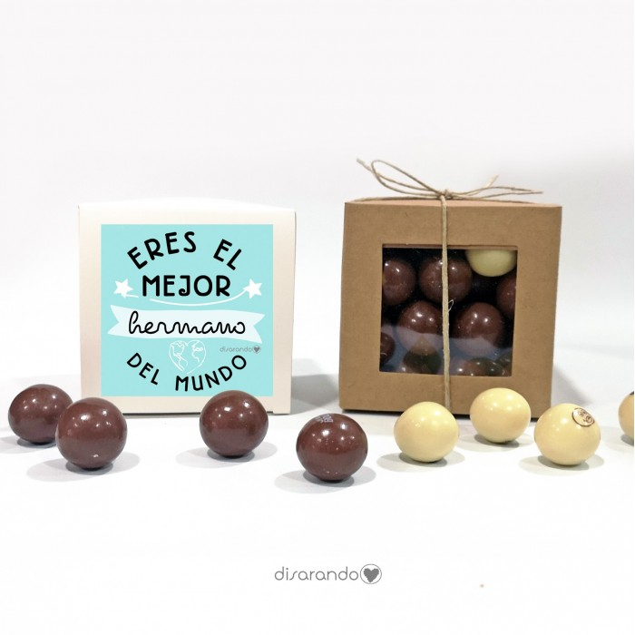 "Caja Bombones Chocolate ""Hermano"""