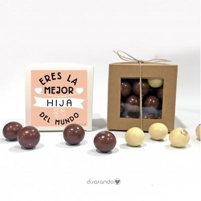 "Caja Bombones Chocolate ""Eres la mejor hija del mundo"""