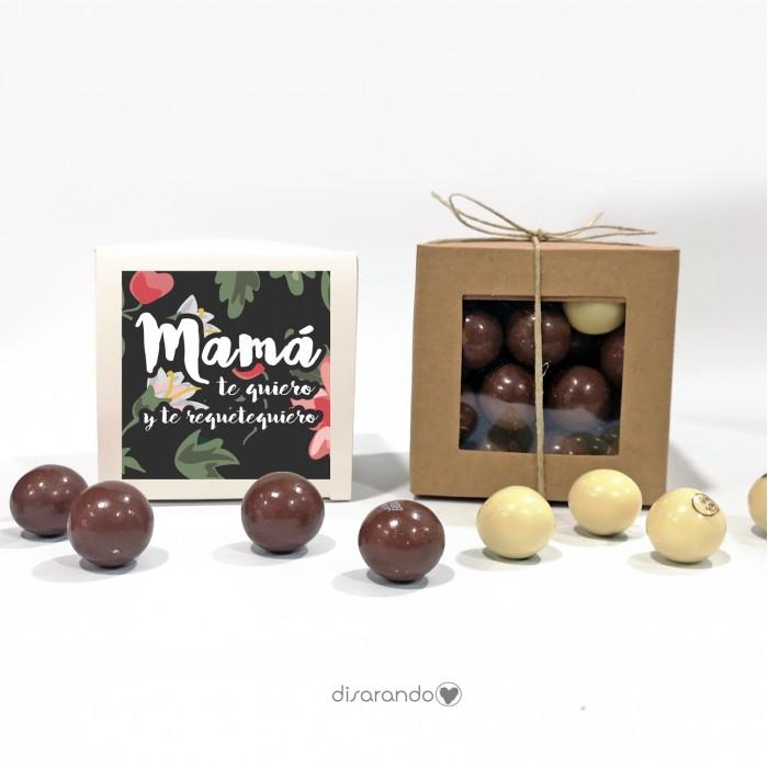 "Caja Bombones Chocolate ""Mamá"""