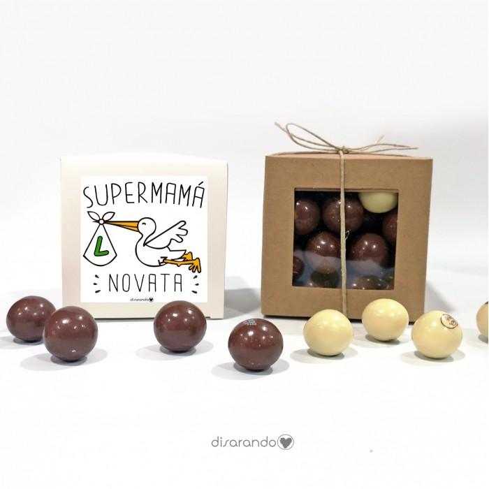 "Caja Bombones Chocolate ""Mamá Novata"""
