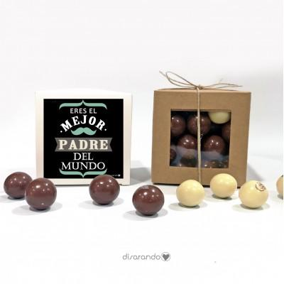 "Caja Bombones Chocolate ""Papá"""