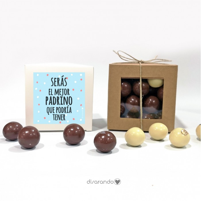 "Caja Bombones Chocolate ""Padrino"""