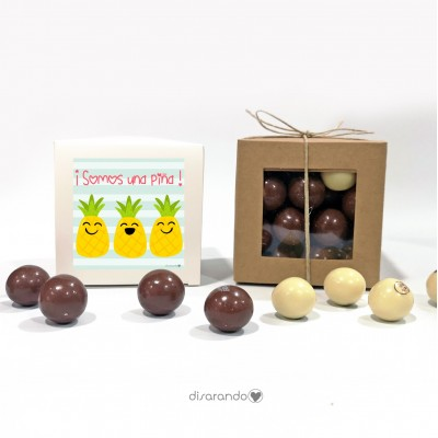 "Caja Bombones Chocolate ""Piña"""