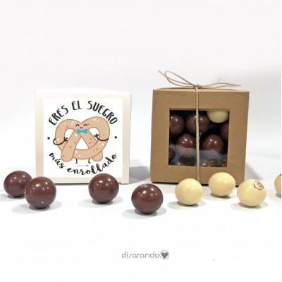 "Caja Bombones Chocolate ""Suegro"""