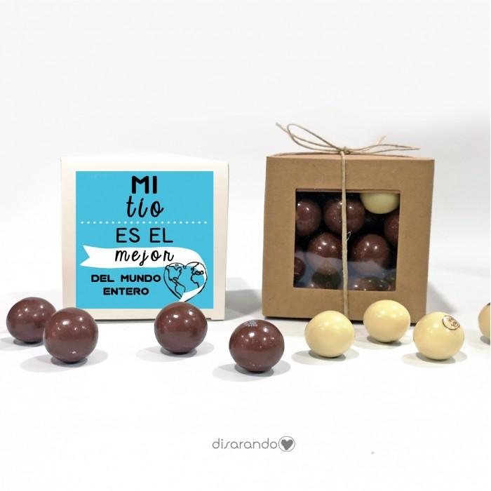 "Caja Bombones Chocolate ""Tío"""