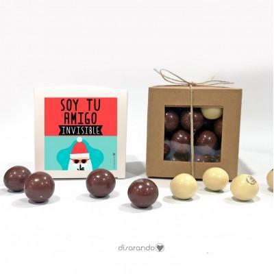 "Caja Bombones Chocolate ""Amigo Insivible"""