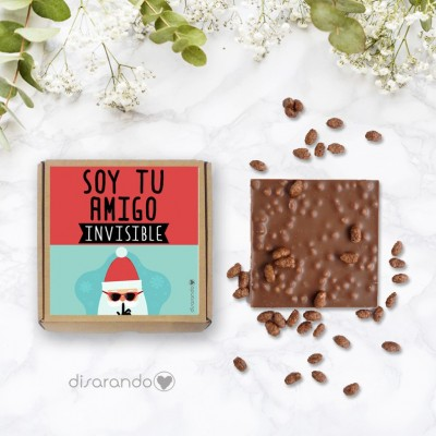 "Tableta chocolate ""Amigo Invisible"""