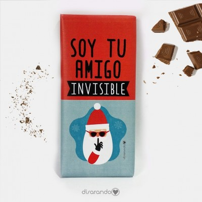 "Tableta Chocolate ""Soy tu amigo invisible"""