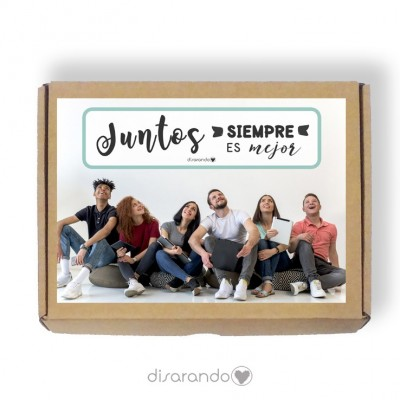 Caja personalizable 45 Con foto (Rectangular o Picnic)