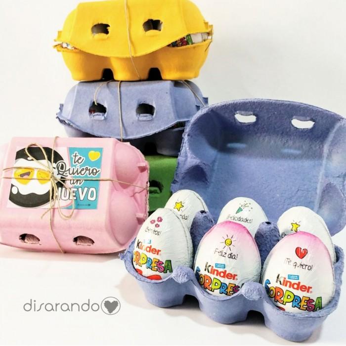"""Caja Huevos Kinder """"Te quiero un huevo"""""""