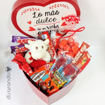 """Caja XL Corazón """"Lo más dulce de mi vida eres tú"""""""