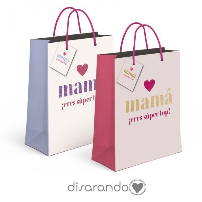"""Bolsa regalo """"Mamá eres super top"""""""