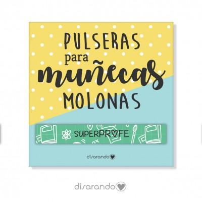 "Pulsera mensaje ""Super Profe"" (varios colores)"