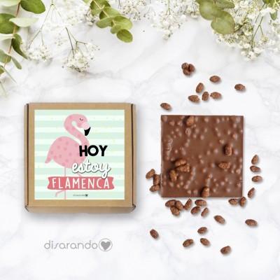"""Tableta chocolate """"Hoy estoy flamenca"""""""