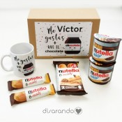 "Kit Personalizable Nutella ""Me gustas más que el chocolate"""