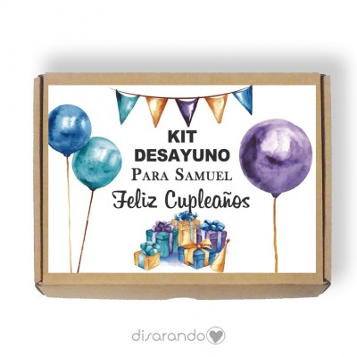 Caja personalizable 01 Cumpleaños (Rectangular o Picnic)