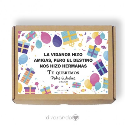Caja personalizable 02 Cumpleaños (Rectangular o Picnic)