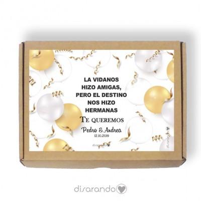 Caja personalizable 03 Cumpleaños (Rectangular o Picnic)