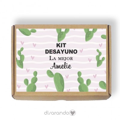 Caja personalizable 07 Cactus (Rectangular o Picnic)