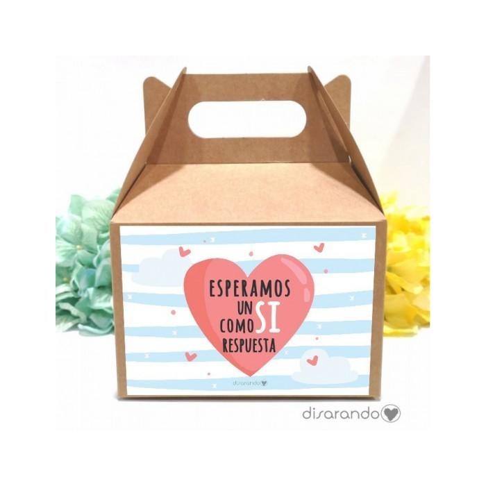 Caja personalizable 16 Corazón (Rectangular o Picnic)