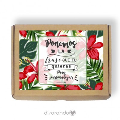 Caja personalizable 36 Tropical (Rectangular o Picnic)