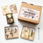 """Kit Travel Parejas """"Toda Aventura comienza con un sí"""""""