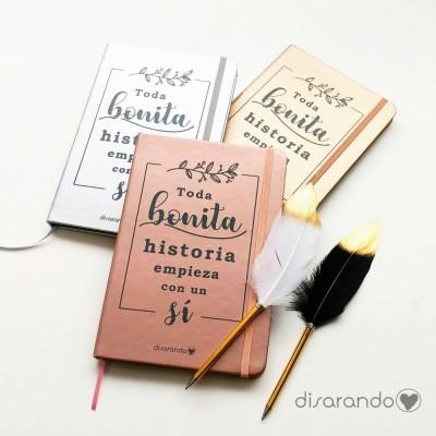"Libreta ""Toda bonita historia... """