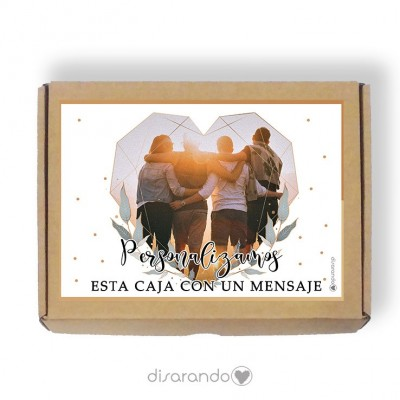 Caja Personalizable 01 Gold & Green (Rectangular o Picnic)