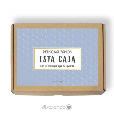Caja Personalizable 07 Blue (Rectangular o Picnic)