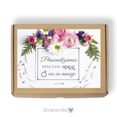 Caja Personalizable 08 Flower (Rectangular o Picnic)