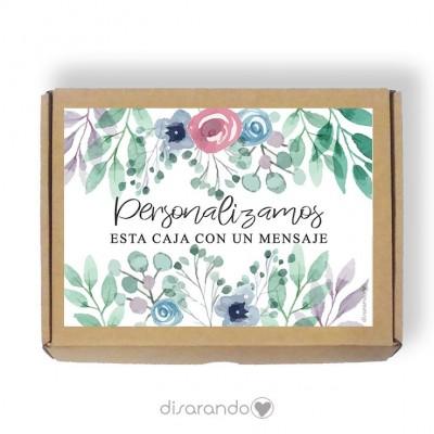 Caja Personalizable 09 Acuarela (Rectangular o Picnic)