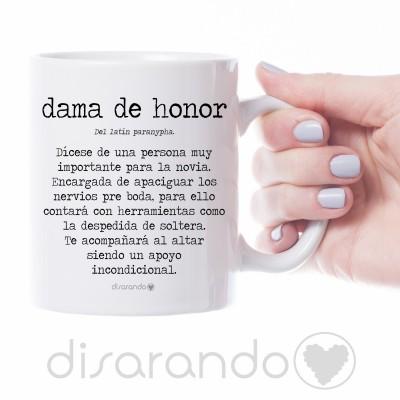 """Taza definición personalizable """"Dama de Honor"""""""