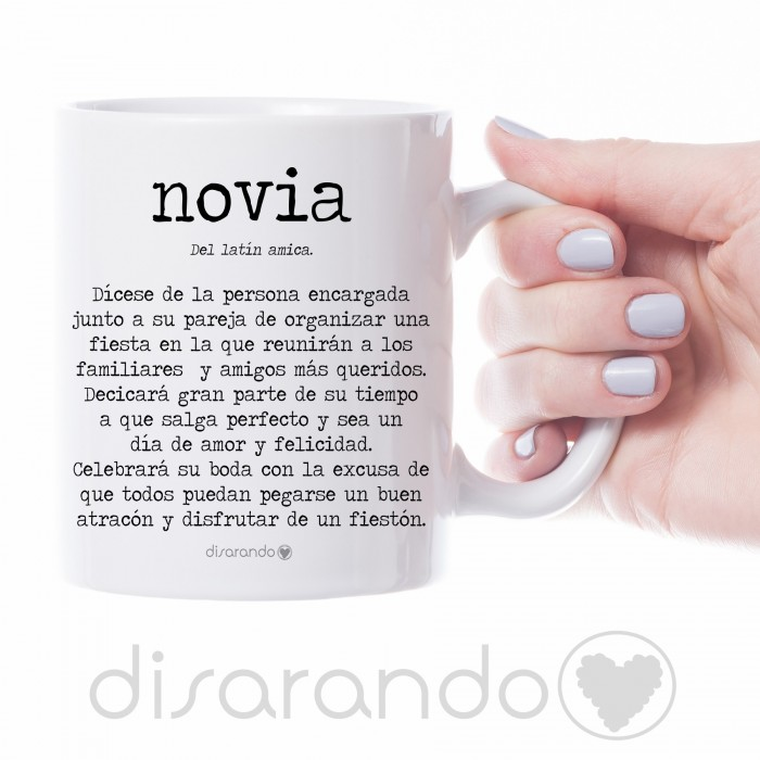 """Taza definición personalizable """"Novia"""""""
