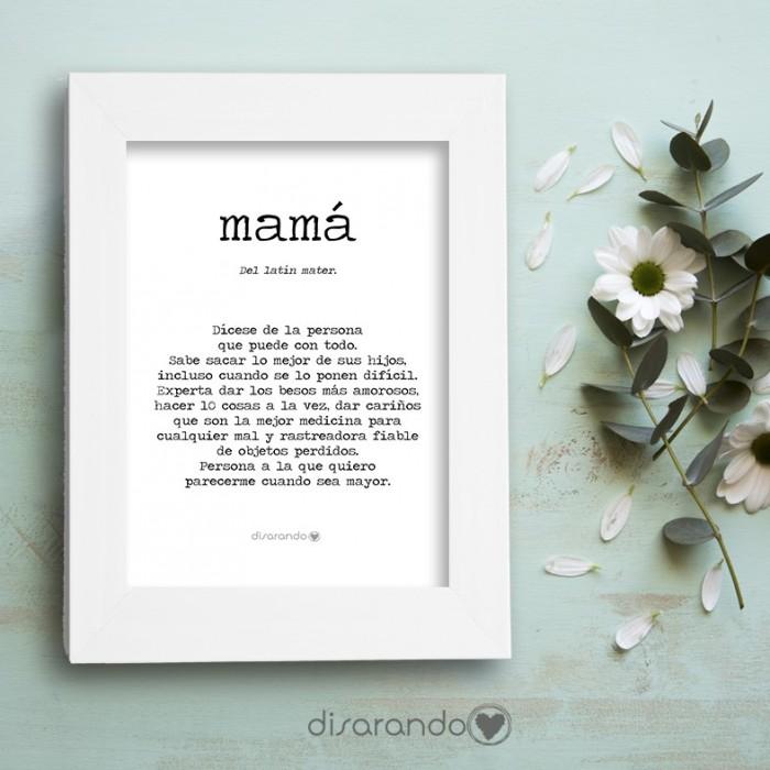 """Marco fotos + lámina """"Definición Mamá"""""""