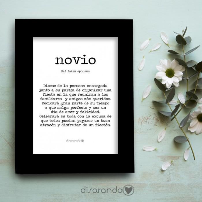 "Marco fotos + lámina ""Definición Novio"""