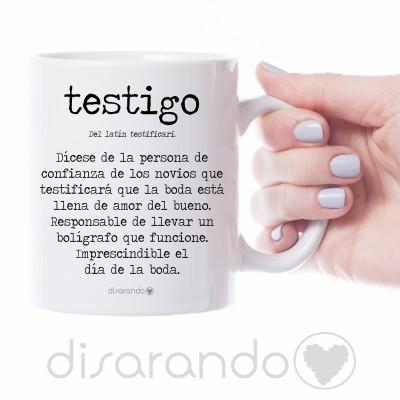 """Taza personalizable """"Definición Testigo"""""""