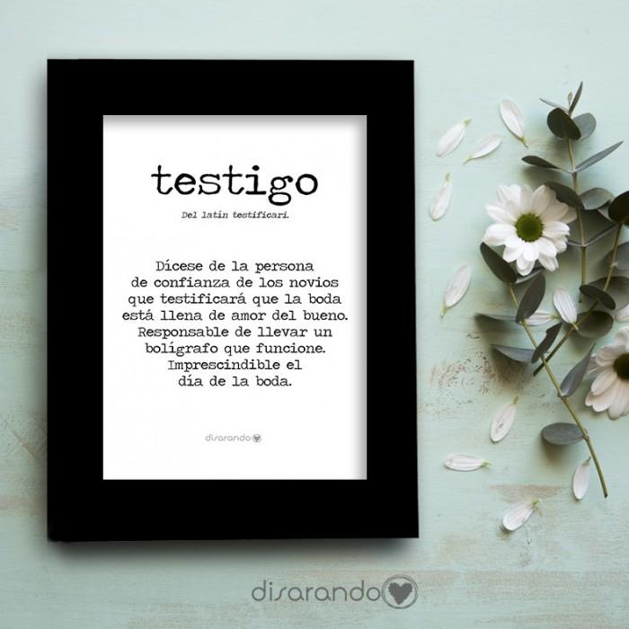 """Marco fotos + lámina """"Definición Testigo"""""""