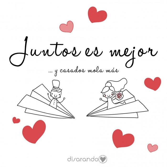 """Colección """"Juntos es mejor y casados mola más"""""""