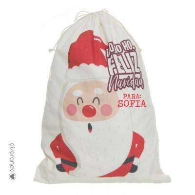 Saco Navidad Personalizable Papá Noel