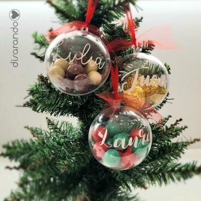 Bola Navidad Nombre con Bombones