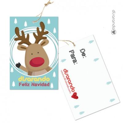 Etiqueta Mensaje Navidad Gratis